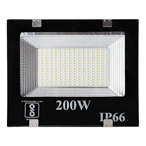 DesiDiya® 200 Watt Ultra Thin Slim Ip66 LED Flood Outdoor Light Cool White Waterproof- 200W (Pack of 1)