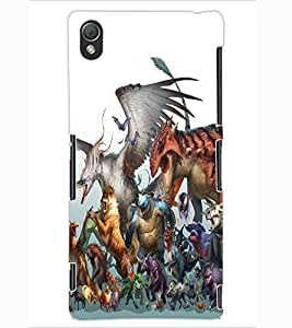 ColourCraft Cartoon Animals Design Back Case Cover for SONY XPERIA Z3