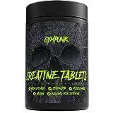 GYMPUNK Creatine, 240 vegane Tabletten, 3000mg gepuffertes Monohydrat pro Portion, Alkaline Formel mit Vitamin B6, Kraft und Muskelaufbau