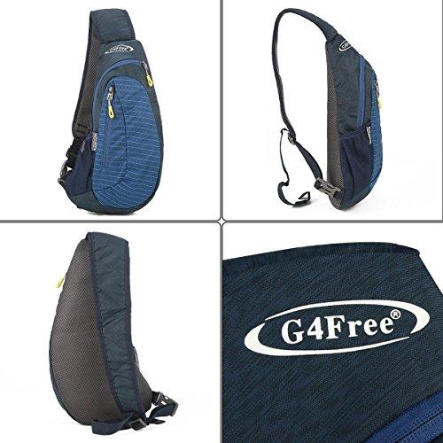 G4Free Leichte Brust Sling Schulter Rucksäcke Nette Umhängetasche Dreieck Pack Rucksack zum Wandern Radfahren Reisen oder Multipurpose Tagepacks Blau