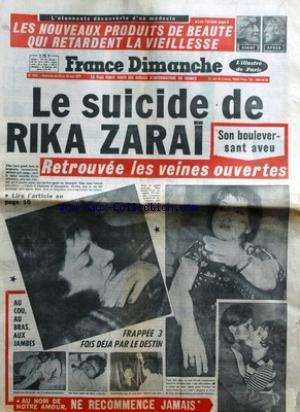 FRANCE DIMANCHE [No 1603] du 23/05/1977 - LE SUICIDE DE RIKA ZARAI - COLUMBO ET SA FEMME - PETER FALK ET SHERA.