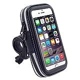 PYKJYN A.D Wasserdicht Fahrradlenkertasche Fahrrad Handytasche Fahrrad Smartphone Tasche 360° Drehbar Handy Lenkertasche Halterung für 5,5 Zoll Bildschirm Handy iPhone 6plus/6S Plus,L