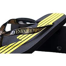 Emporio Armani EA7 hombres zapatillas sandalias chanclas en goma nuevo sea world