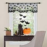 LAEMILIA Halloween Vorhang Spitze Fledermaus Spinnennetz Gothic Party Wand Fenster Kamin Abdeckung Deko - 4