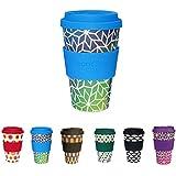 Hermosa Taza de café para llevar de Kaufdichgrün I taza de café con tapa y agarre de silicona apta para lavavajillas, sin BPA, café I taza de café reutilizable Stargate 400 ml