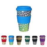 BIOZOYG Hermosa Taza de café para Llevar I Taza de café con Tapa y Agarre de Silicona Apta para lavavajillas, sin BPA, café I Taza de café Reutilizable Stargate 400 ML