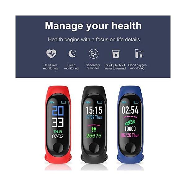 Smartwatch M3 Plus Heart Rate Fitness Tracker SmartBand OLED Smart Wrist Sports Pulsera Pantalla Colorida 5