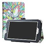 LFDZ Archos Access 70 3G Coque, Slim Fit Housse Support Ultra-Mince et Léger Etui Cover pour 7.0' Archos Access 70 3G Tablet,Love Tree