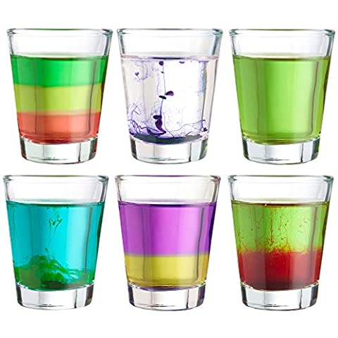 VonShef Shot Liqueur Glasses Set of 6 Quality 55ml Shooter Glasses, Made Of Glass