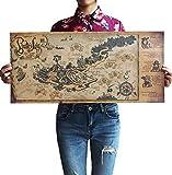 Yirenfeng Sticker Mural Nostalgique Rétro Papier Affiche Pirates Des Caraïbes Carte Au Trésor Papier Peint Art Décoration De Maison Peinture