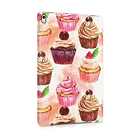 Sweet Cream Cherry Berries Cupcakes Pattern Apple iPad Pro 9.7 Snap-On Hard Plastic Protective Shell Case Cover Coque Housse Etui