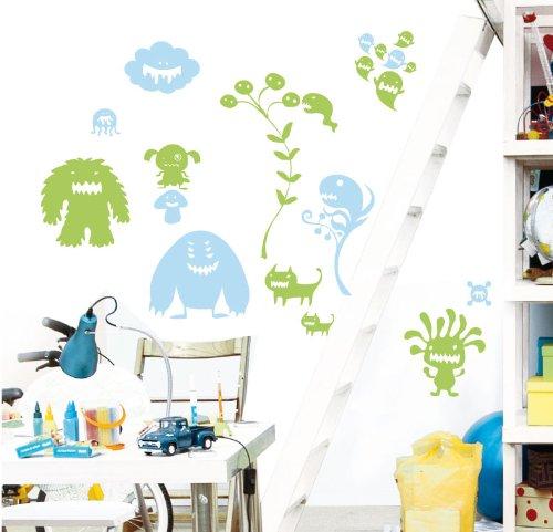MYVINILO–Kinder Vinyl–Cookie Monsters hellblau/hellgrün (150x 150cm) (Cookie Monster Dekorationen)