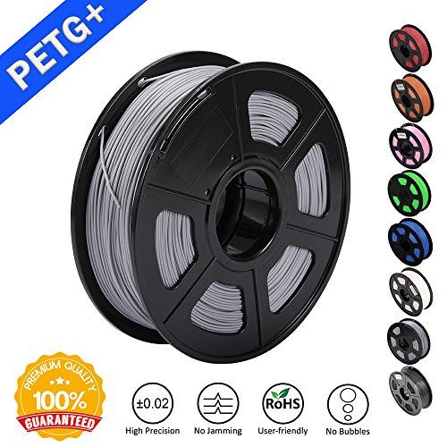 SUNLU-3D-Printer-Filament-Grey-PETG-Grey-PETG-Filament-175-mm-SUNLULow-Odor-Dimensional-Accuracy-002-mm-3D-Printing-Filament22-LBS-1KG-Spool-3D-Printer-Filament-for-3D-Printers-3D-PensGrey