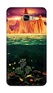Amez designer printed 3d premium high quality back case cover for Samsung Galaxy A9 (Painting under water)