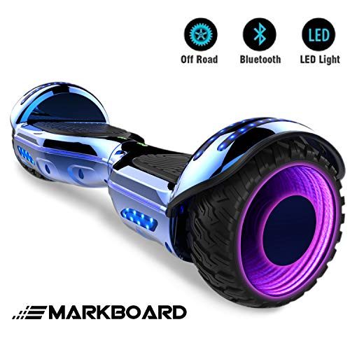 "Markboard Elektro Scooter Hoverboard LED 6,5"" E-Balance E-Skateboard Elektroroller 700W Motor Bluetooth (LED BLAU)"