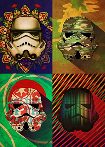 Trooper Camo (Star Wars Metall-Poster Pop Art Troopers Camo Squad 32 x 45 cm)