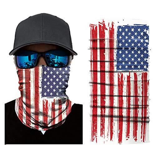 ichtsmaske Amerikanische Flagge Druckhalbmaske Rohrmaske FüR Das Radfahren ()
