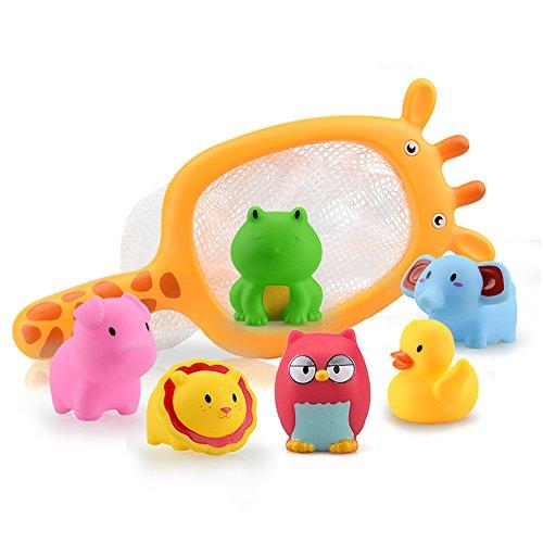 Xiton 7pcs Baby-Spielen mit Wasser Baden Angeln Spielzeug Pool Spielzeug Sommer Spielzeug Spielen im Freien für Kinder Jungen Mädchen