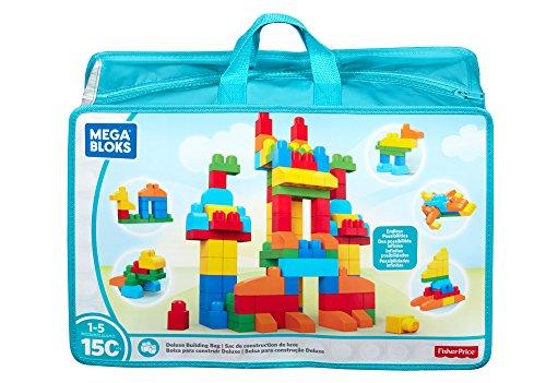 Mattel Mega Bloks CNM43 - Bausteinebeutel Deluxe, 150 Teile, grundfarben