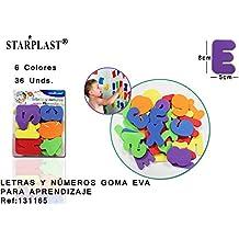 Starplast 131165 - Pack de números y letras en goma eva, adhesivos cuando están húmedos
