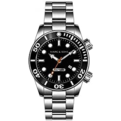 MARC & SONS Professional Automatic 1000 Meter Mechanical Diver Watch - MSD-020