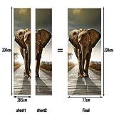 L-com LLL MT025 3D DIY Elefanten Tier Muster Selbstklebend Wasserdicht Türbild Türaufkleber Türposter
