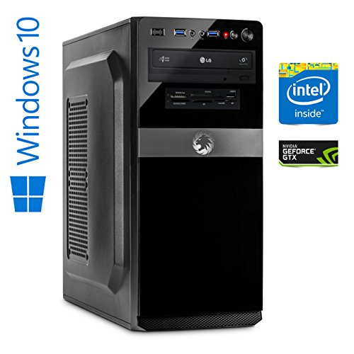 Memory PC Gamer Intel Core i5-8400 8. Generation (SixCore) Coffee Lake 6x 2.8 GHz, ASUS, 16 GB DDR4 2133, 256 GB SSD+2000 GB Festplatte Sata3, NVIDIA GeForce GTX 1050Ti 4GB 4K, USB 3.0, SATA3, HDMI, DVD-Brenner, Sound, GigabitLan, Windows 10 Pro 64bit, MultimediaPC, High End Gaming, Cardreader, Coffeelake