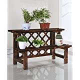 WUFENG Pérgolas de madera, carburo de flores, madera multicapa de flores balcón conservante, el montaje de pérgolas de madera al aire libre ( Tamaño : A-52cm )