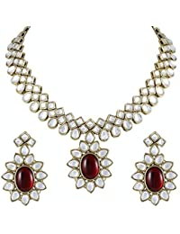 Shining Diva Wedding Party Wear Kundan Jewellery Set / Necklace Set For Women