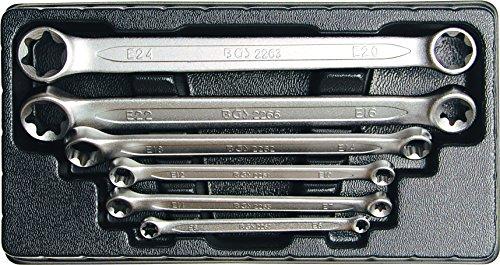 Preisvergleich Produktbild BGS 2268 Doppel-Ringschlüsselsatz für E-Profil-Außenschrauben, E6xE8-E20 xE24, 6-tlg.