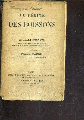LE REGIME DES BOISSONS.