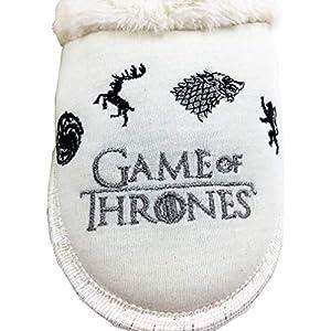 - Zapatillas de Estar por casa, cómodas, para Chica, con diseño de Juego de Tronos, Color Crema 1