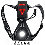 Zenoplige Running Light Lamp, Updated USB Rechargeable LED Chest Light Safety Wearable Waterproof