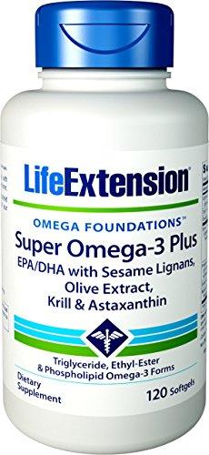 Life Extension | Super Omega-3 Plus | 120 Weichkapseln | EPA/DHA mit Sesam-Lignanen (Omega-3-plus)