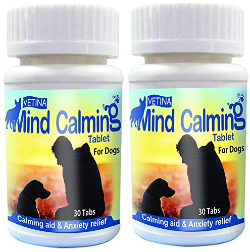VETINA Mind Calming Tablets 30 TABS (Pack of 2) by Jolly and Cutie Pets
