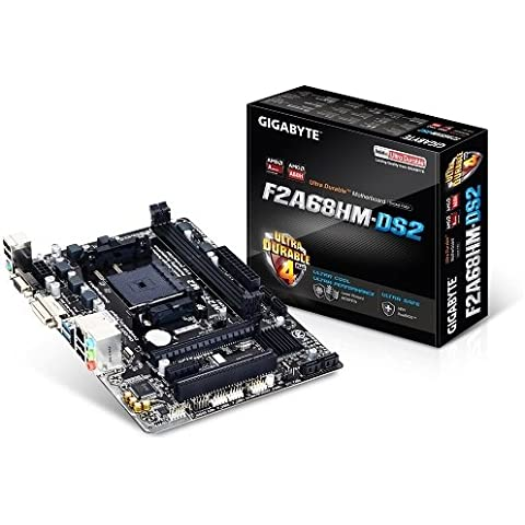 Gigabyte Ultra resistente f2a68hm - DS2 placa base (Socket FM2 +, AMD A68H, Micro ATX, SATA/RAID, Gigabit,