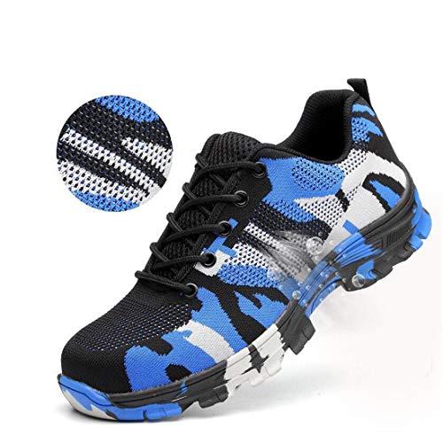 YSJD Tarnen Stahlkappe Schuhe Männer Arbeiten Stiefel Atmungsaktive Arbeitsschutzschuhe für den Mann Stahlpannensichere Bausicherheitsstiefel,40