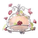 XQY Wohnzimmer Kronleuchter, Bar Restaurant Dekoration , Beleuchtete Kreative Persönlichkeit Rose Blume Kronleuchter Retro Schlafzimmer Kronleuchter Blumenladen Kronleuchter Korridor Hochzeitsshop Ba