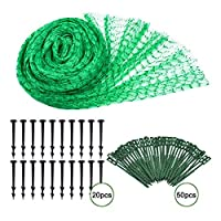 AiYoYo bird netting set 4x10m bird protection net bird netting net for protecting trees, garden, pond | Mesh size: 15 mm | 50 cable ties | 20 garden safety nails