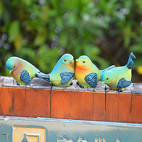Sammlung Kaffee-tisch-set (Zantec Lovely Resin Mini Bird Figuren Statue Home Tisch Zähler Dekoration Set von 4 Styles)