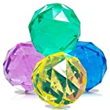 4 x HC-Handel 914216 Flummi Diamonds Springball 49 mm sortiert
