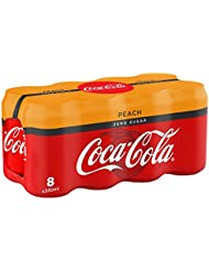 Coca-Cola Zero Sugar Peach Drink, 8 x 330 ml