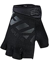 Fox Womens Ripley Gel Short Glove, Black/Black, tamaño M