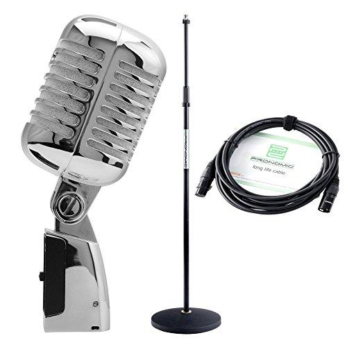 s-Mikrofon dynamisch silber SET ()