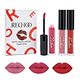Rechoo Rossetti Matte Rossetto Lunga Durata Impermeabile Liquid Lipstick 3 Colours Makeup Set