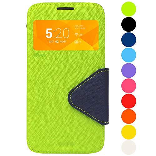 Roar Galaxy Note 8 Tasche Klapphülle Hülle Handyhülle Flip Case mit Fenster, Premium Etui Schutzhülle geeignet für Samsung Galaxy Note 8, Grün