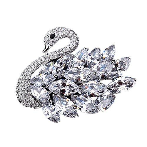 blich Weihnachten Schals Kleidung Schals Brosche Anzug Brosche Geschenk Big Pin Mit Zubehör,Silver-OneSize (Kunden Mit Eine Ursache)