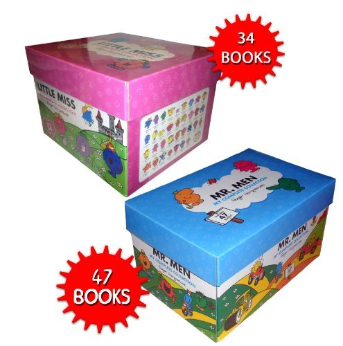 Mr Men & Little Miss 83 Books The Complete Collection Gift Box Set Roger Harg...