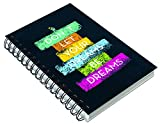 #5: Paper Plane Design Inspirational Thoughts A5 Size Notebook For School/College/Office For Important Notes/Personal Diary