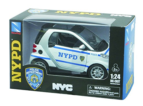 newray-71203-nypd-smart-fortwo-car-scala-124-die-cast